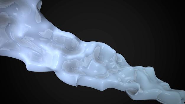 Forme futuristiche liquide bianche di movimento, fondo geometrico astratto