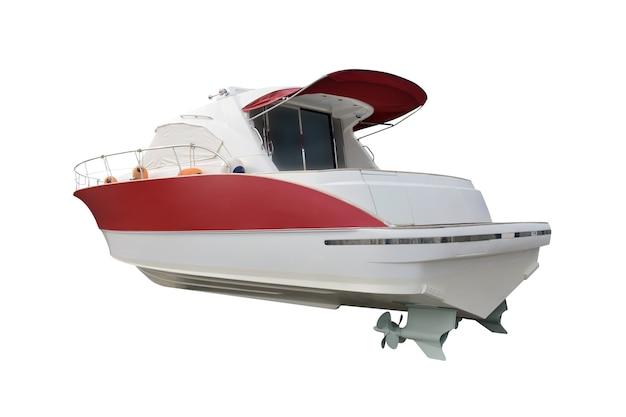 Barca a motore isolato su bianco