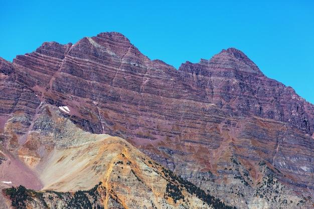 Paesaggio di montagna nelle montagne rocciose del colorado, colorado, stati uniti.