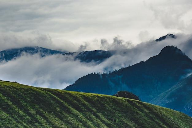 Catena montuosa nel distretto di ongudaysky della repubblica dell'altaj