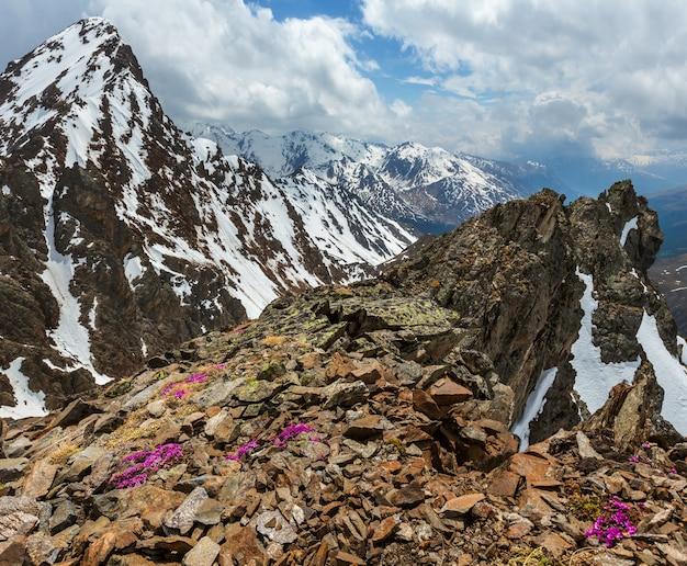 Vista sulle montagne dalla stazione a monte della cabinovia karlesjoch (3108 m