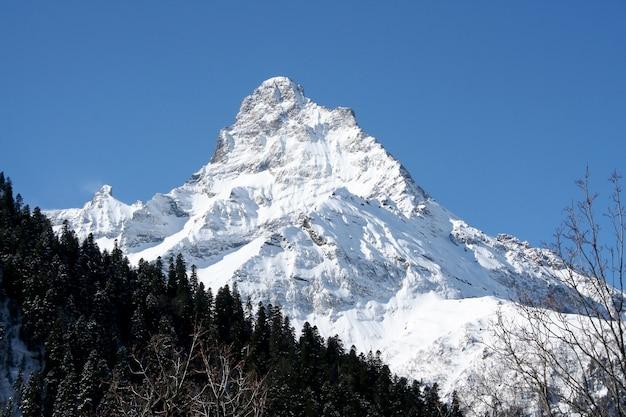 Nelle montagne di dombai, caucaso, russia