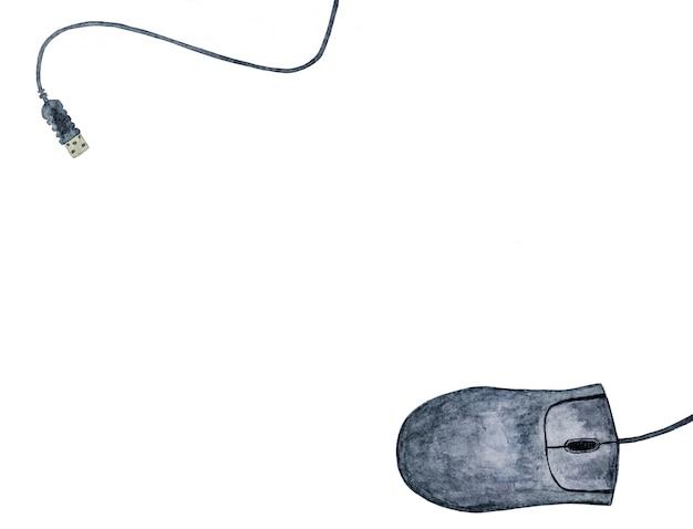Mouse su un muro bianco. sysadmin day.