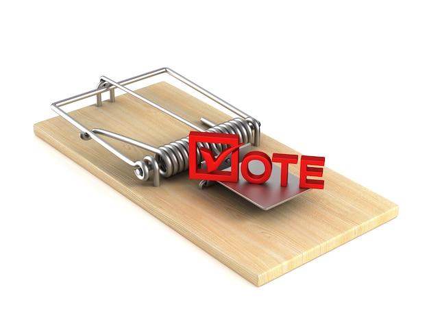Trappola per topi e voto su bianco