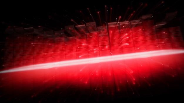 Barra dell'equalizzatore di musica veloce in movimento. rappresentano un suono più profondo ed emotivo nel suono della musica. equalizzatore di forma d'onda audio in sfondo nero. visualizzatore astratto. grafico digitale in movimento e incandescente nel buio.