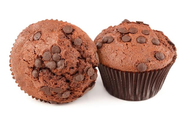 Muffin isolati su bianco