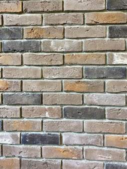 Muro di mattoni multicolori per lo sfondo e lo spazio della copia