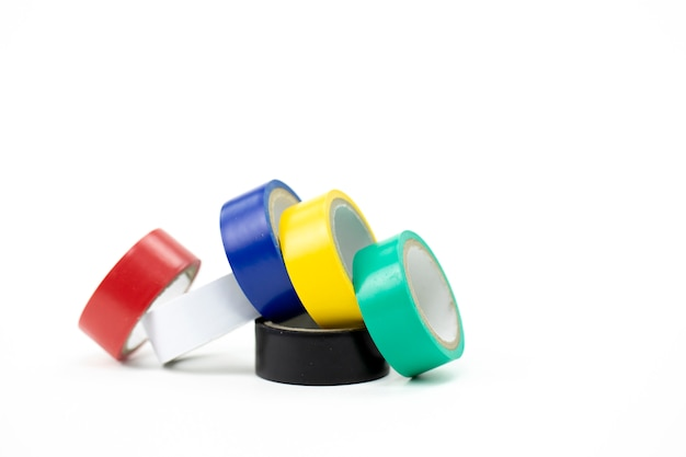 Nastro adesivo multicolore in piccoli rotoli per progettazione e riparazione