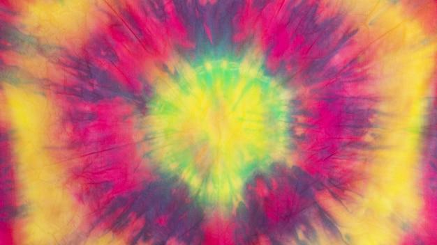 Trama del tessuto tie-dye sfumato multicolore