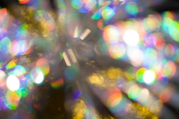 Priorità bassa di effetto bokeh grande arcobaleno multicolore