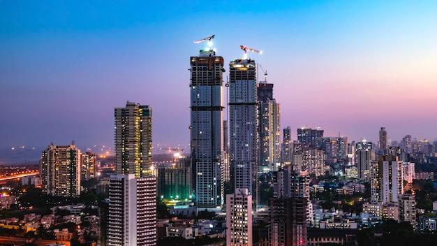 Lo skyline di mumbai wadala sewri lalbaug