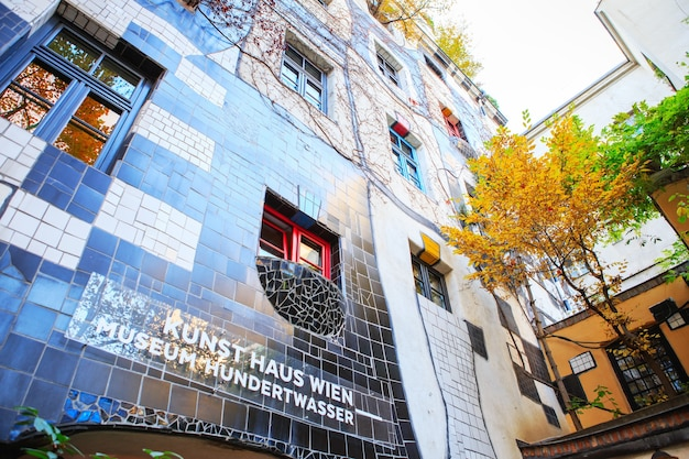 Il museo hundertwasser nella kunst haus wien di vienna, austria.