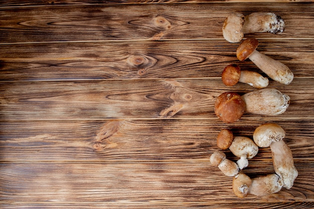 Boletus del fungo sulla tavola di legno
