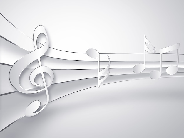 Sfondo di carta musicale con note
