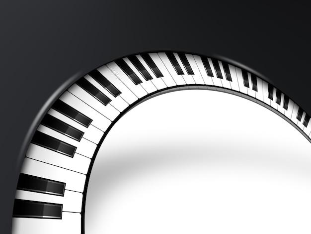 Sottofondo musicale con tasti di pianoforte