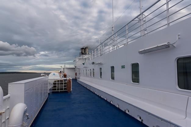 Traghetto mv fundy rose nella baia di fundy, new brunswick, canada