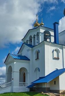 Myadzyel resort città nella regione di minsk della bielorussia.chiesa della santa trinità