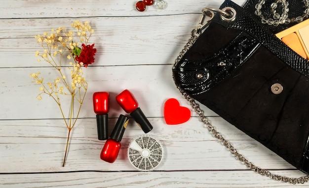 Trucco per unghie borsa per notebook specchio cosmetici borsa per il trucco donna signora roba