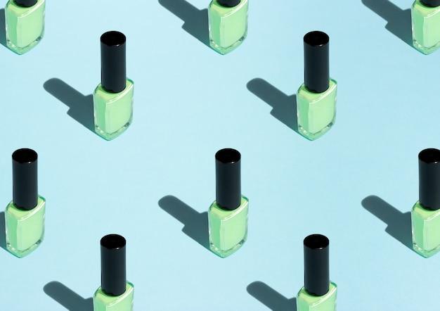 Smalto per unghie con pattern di ombre senza soluzione di continuità, sfondo per il design