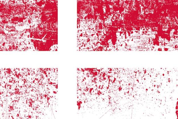 Bandiera nazionale della danimarca con texture. modello per il design