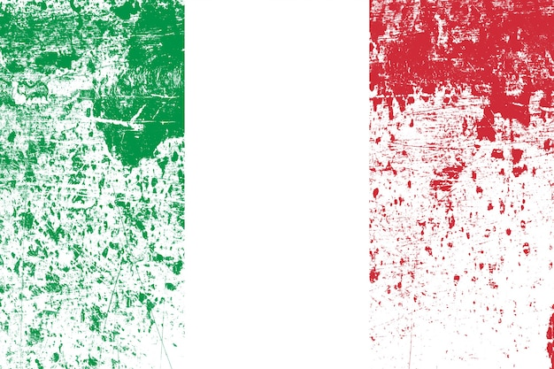 Bandiera nazionale d'italia con texture. modello per il design