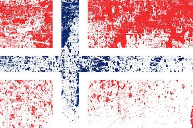 Bandiera nazionale della norvegia con texture. modello per il design
