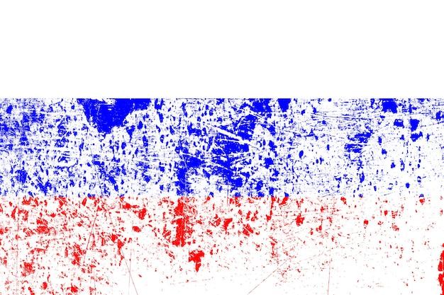 Bandiera nazionale della russia con texture. modello per il design