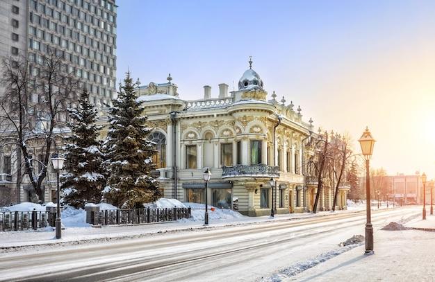 Biblioteca nazionale del tatarstan in una mattina d'inverno a kazan
