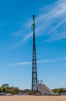 Montante nazionale di brasilia distrito federale brasile il 14 agosto 2008 bandiera del brasile