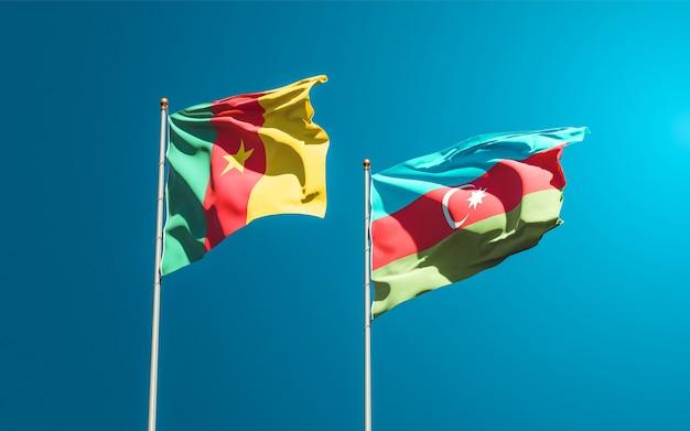 Bandiere nazionali di stato dell'azerbaigian e del camerun