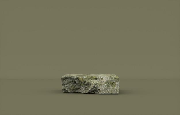 Sfondo di podio di pietra di bellezza naturale per l'esposizione di prodotti cosmetici.