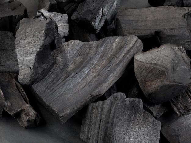 Fondo nero naturale del carbone. come motivo o trama