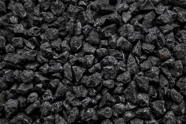 Carboni neri naturali per lo sfondo. carboni industriali energia di roccia vulcanica sulla terra.