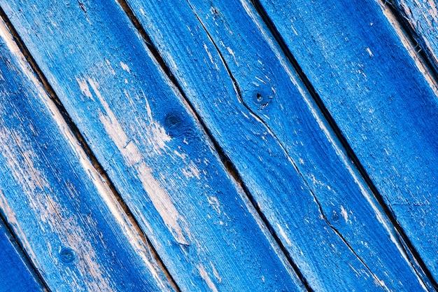 Fondo di struttura di legno blu naturale, vecchio fondo d'annata delle plance di legno, pannelli di legno