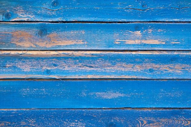 Fondo di struttura di legno blu naturale, vecchio fondo d'annata delle plance di legno, pannelli di legno Foto Premium