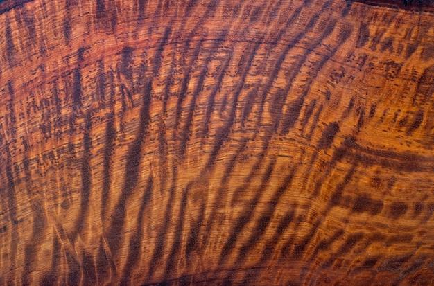 Il legno naturale del padauk della birmania ha una superficie di fondo con trama a strisce di tigre o strisce ricci