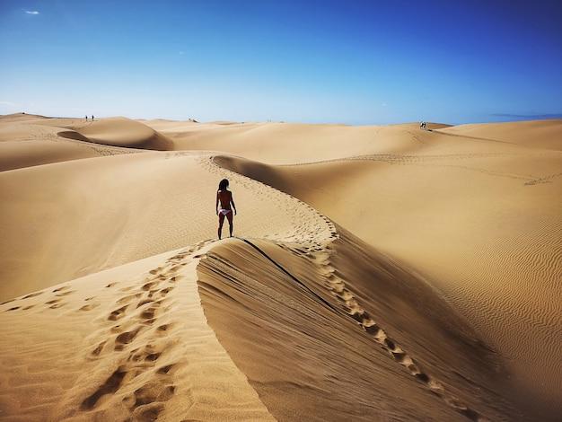 Riserva naturale delle dune di maspalomas a gran canaria, spagna