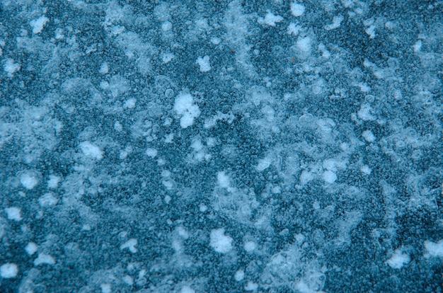 Consistenza naturale del ghiaccio. sfondo invernale