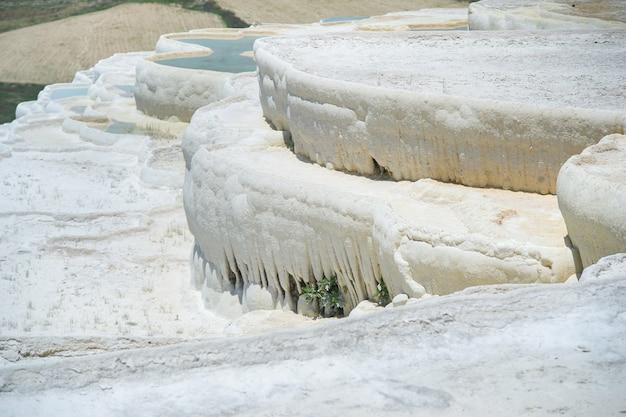 Piscine e terrazze naturali in travertino, pamukkale, turchia