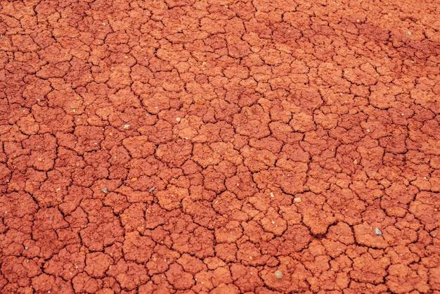 Sfondo della natura con crepe sull'argilla