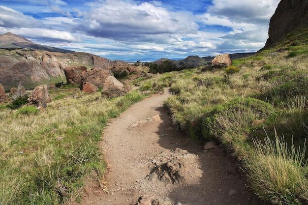 Natura del monte fitz roy vicino a el chalten in patagonia, argentina