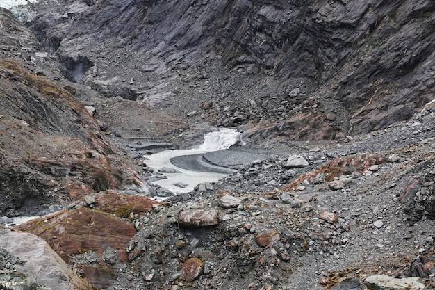 Natura del ghiacciaio franz josef in nuova zelanda