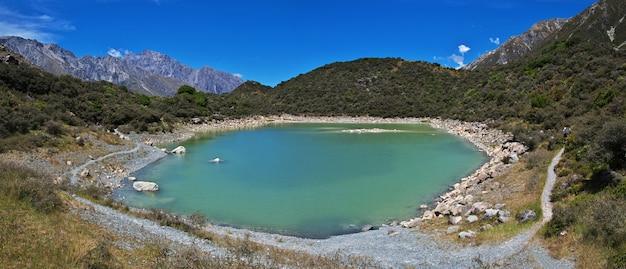 Natura del ghiacciaio tasman in nuova zelanda