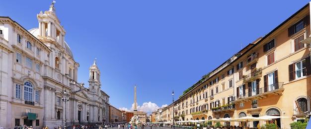 Piazza navona, centro di roma, italia. panorama