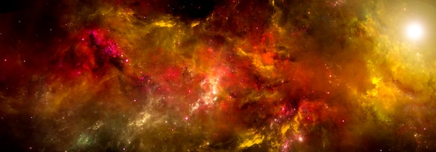 Una nebulosa dai colori vivaci nello spazio profondo. sfondi di fantascienza.
