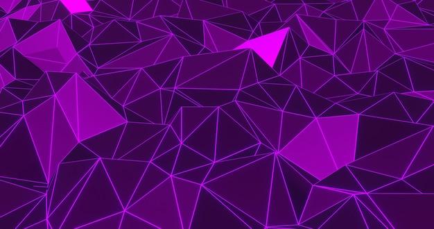 Fondo astratto geometrico al neon. rendering 3d