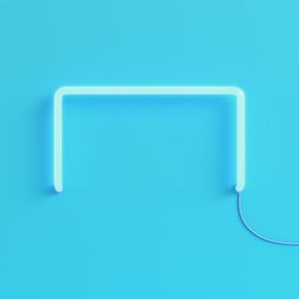 Luce al neon su sfondo blu brillante