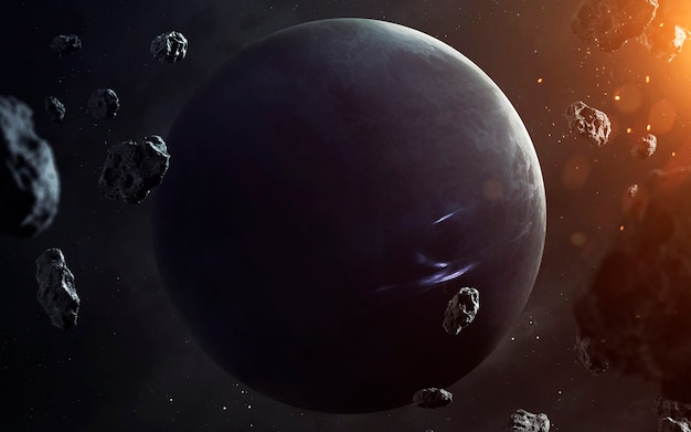 Nettuno. pianeti della visualizzazione del sistema solare. elementi di questa immagine forniti dalla nasa