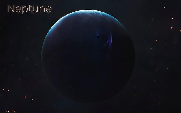 Nettuno. pianeti realistici del sistema solare. elementi di questa immagine forniti dalla nasa