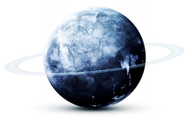 Nettuno nello spazio, illustrazione 3d. .